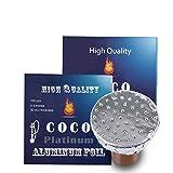 COCO PLATINUM Limited Edition of Pierced Hookah Foil 100 Sheet New Hooka Shisha Precut Foi...