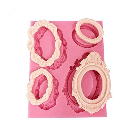 Moules en silicone pour fondant, gâteau, savon, chocolat, Silicone, rose, 9.9 x 7.7 x 1.1cm