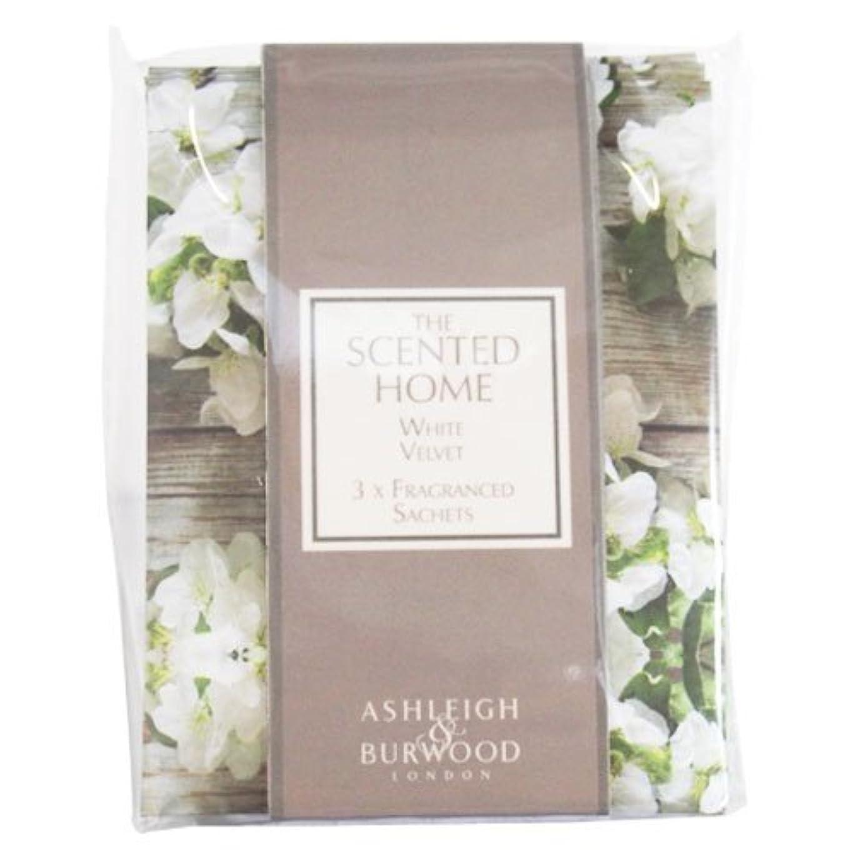 ぼろ冷笑する有名人Ashleigh&Burwood サシェ×3個 ホワイトベルベット Sachet×3 White Velvet アシュレイ&バーウッド