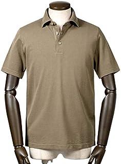 サンモリッツ S.MORITZ / 19SS!製品染めドライコットン鹿の子半袖ポロシャツ『A31602』 (グレイッシュブラウン) メンズ