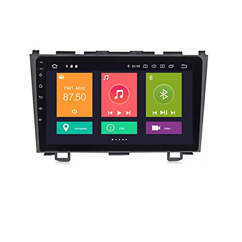 ADMLZQQ para Honda CRV 2006-2012 Coche Radio Sistema Estéreo NAVI 9' Touch GPS Navigator MP5 Multimedia Player Radio Video Receptor Soporte DSP Carplay Mirror Link Screen Espejo,Px6,4+64