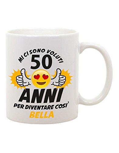 bubbleshirt Tazza Mug in Ceramica Compleanno Mi Ci Sono Voluti 50 Anni per Diventare così...