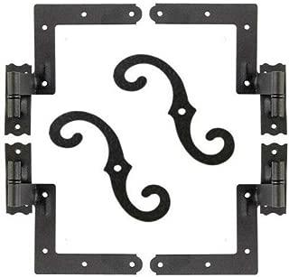 allgoodsdelight365 Shutter Hardware Hinges and Pintels Brick Mount (4) + Shutter Dogs S Hooks (2)