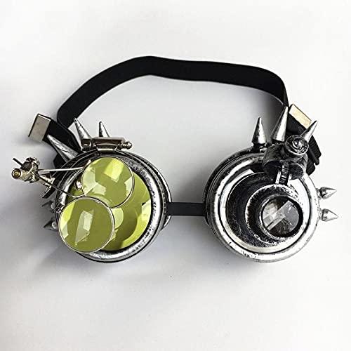 Clásico Gafas De Sol Retro Steam Punk Gafas Coloridas Rave Festival Fiesta Gafas De Sol Gafas De Sol con Lentes Difracta