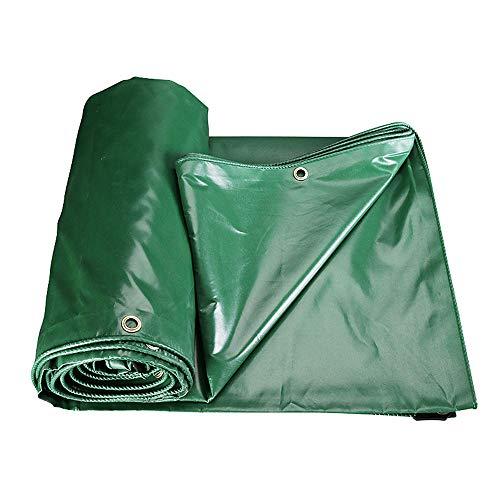 Lona con ojales impermeable, lona de protección pesada antilluvia, cubierta de exterior de PVC, 420 g/m², verde – Lona de cobertura (8 x 12 m)