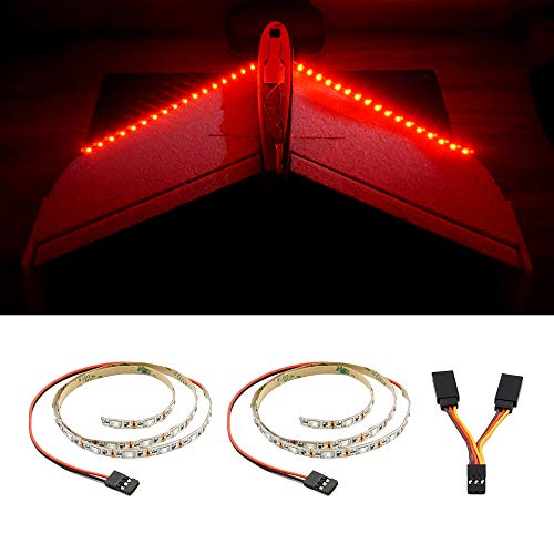LED Light Strip for RC Fixed Wing Airplane Flying Wing Plane AR Wing Drone (Red)