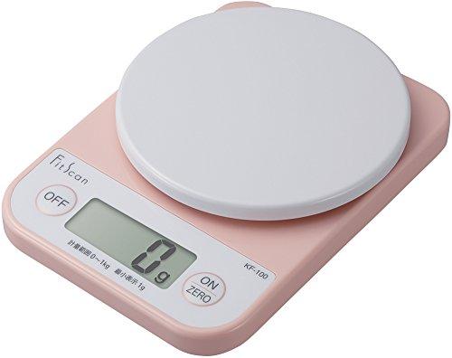 タニタ クッキングスケール キッチン はかり 料理 デジタル 1kg 1g単位 ピンク KF-100 PK