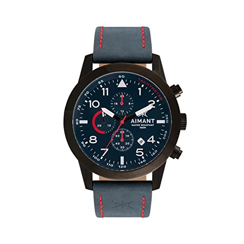 Aimant Reloj Analógico para Hombres de Automático Japonés con Correa en Cuero GBE-190L2-21