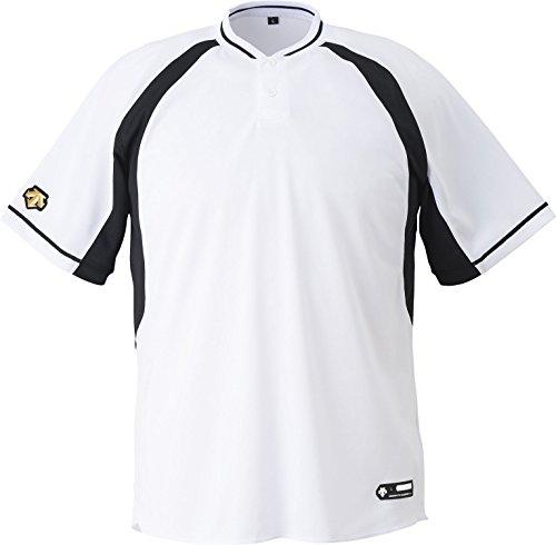 DESCENTE(デサント) 野球 ジュニア 2ボタンベースボールシャツ ホワイト×ブラック 150cm JDB103B