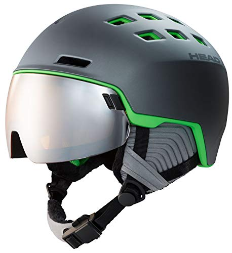 HEAD Radar Visier-Skihelm - Grey Green mat, Kopfumfang:XL-XXL (60-63cm)