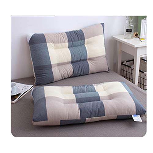 Almohada de Memoria Almohada Cervical Coreana de la Muchacha de algodón Lavado Terciopelo Lindo, Gris