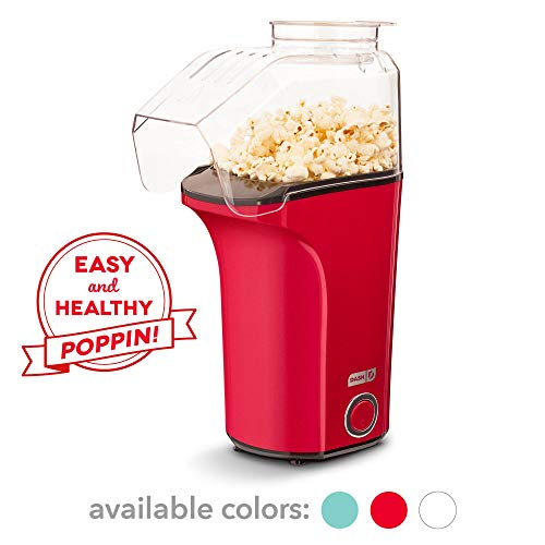 Best Prices! DASH DAPP150V2RD04 Hot Air Popcorn Popper Maker with Measuring Cup to Portion Popping C...