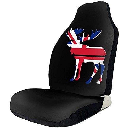 Preisvergleich Produktbild Sobre-mesa Elch britische Flagge Bunte Mode Muster Auto Sitzbezüge vollen Satz von 1,  langlebige Universal Fit meisten Auto,  LKW,  Geländewagen oder Van