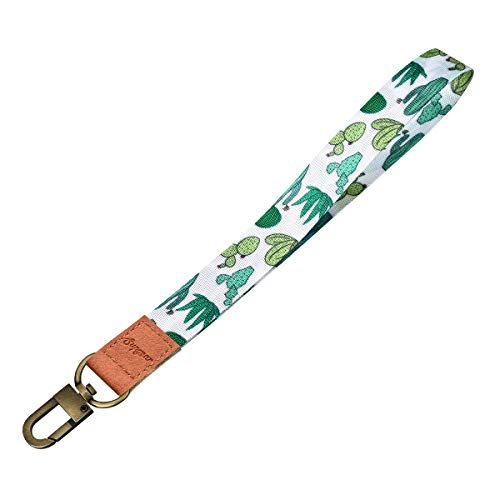 Supgear Cactus Wristlet Strap for Key, Hand Wrist Lanyard Key Chain Holder Wristlet Keychain for Key, Mobile Phone, Card Holders and ID Badges for Women Girls