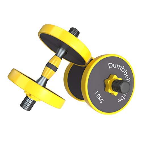 Joychoic Dumbbells-Dumbbell Set-Adjustable Dumbbells-Weights Dumbbells Set with Connecting Rod-Exercise & Fitness Dumbbells 2-in-1 Set-Non-Slip Neoprene Hand-11LBS