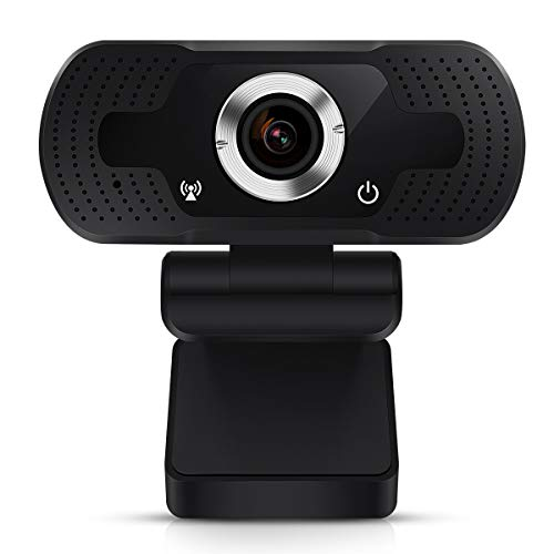 TMEZON Webcam 1080P, cámara Web USB, cámara de computadora HD para Skype, FaceTime, Hangouts, PC/Mac/Laptop/MacBook/Tablet con micrófono Incorporado,Enfoque Automático y Reducción de Ruido