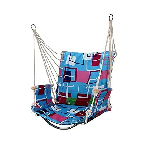 FEANG Schaukel Swing Hängematte Hängen Seilstuhl Swing Chair Sitz Oxford Tuch Hängematte Hängende Stuhlstreifenstange für Innen- und Außenbereich Kinderschaukel (Color : C)