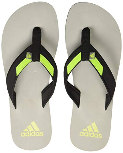 Adidas Men Adirio Attack 2 Ms Dove Grey/Core Black/Solar Slime Slippers-8 UK (CM6095)