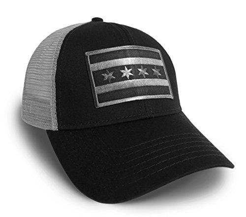 Strange Cargo Chicago Flag Black and Grey Baseball Cap Hat