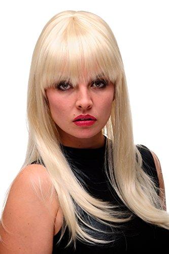 WIG ME UP - Perruque dame années 60 sixties crêpée choucroute blond platine longue lisse GF-W2212-613