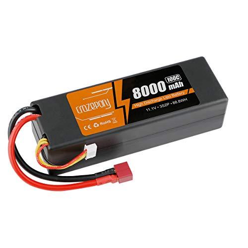 8000mAh 11.1V 100C 3S Batería de lipo con Enchufe Dean T para 1/10 1/8 Escala RCCar Modelo Traxxas Slash Buggy Rustler Bandit Stampede E-Maxx E-Revo Summit Team Associated