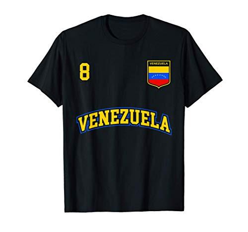 Equipo Deportivo Fútbol Venezuela No 8 Bandera venezolano Camiseta