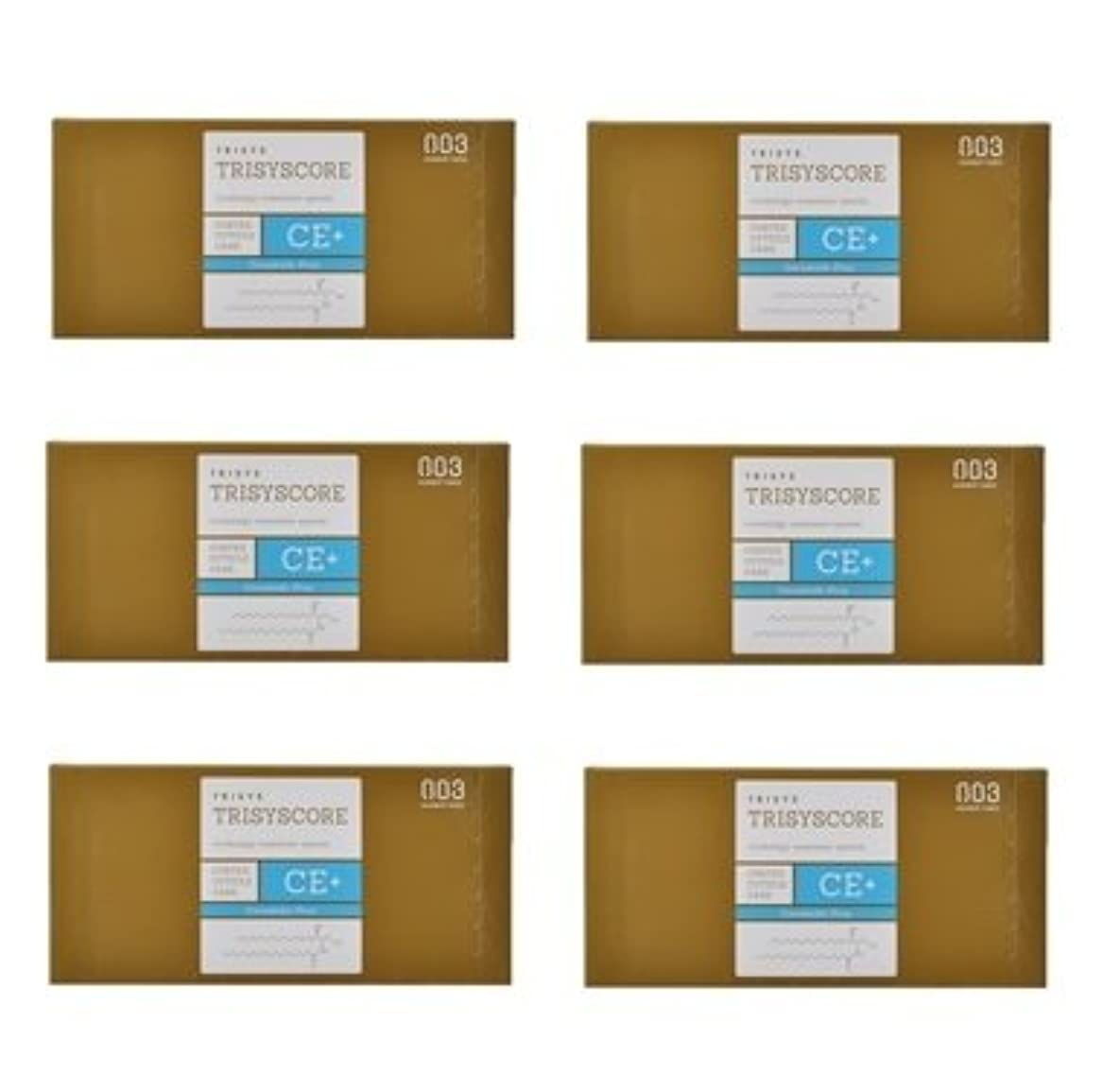 解放クラシック不可能な【X6個セット】ナンバースリー トリシスコア CEプラス (ヘアトリートメント) 12g × 4包入り
