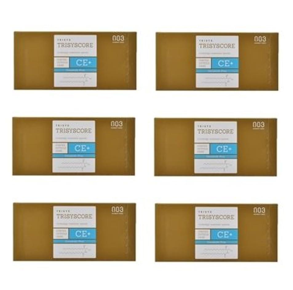 鋸歯状マカダム黄ばむ【X6個セット】ナンバースリー トリシスコア CEプラス (ヘアトリートメント) 12g × 4包入り