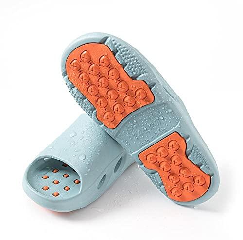 ZZLHHD Ciabatte per Massaggio ai Piedi,Fashion Simple Couple Slippers, Light Casual Massage slippers-44~45_Fog Blue,Sandali per Massaggio con Digitopressione