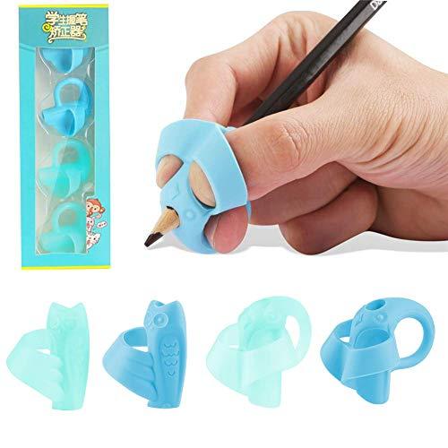 鉛筆もちかた 矯正 鉛筆グリップ 握り方矯正 鉛筆持ち方 子供用 柔らかい 左右手兼用 象 フクロウ ペンを正しく保持する 筆圧 疲労を軽減する 勉強セット はじめてセット 正しい持ち方(4個)