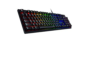 Razer Huntsman Gaming Keyboard  Fastest Keyboard Switches Ever - Clicky Optical Switches - Customizable Chroma RGB Lighting - Programmable Macro Functionality - Classic Black