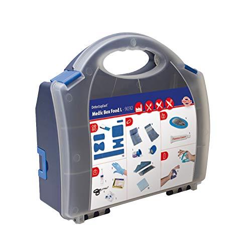 Detectaplast Verbandskasten für die Gastronomie, Erste Hilfe Set für die Behandlung von Wunden, tragbare Reiseapotheke im Koffer mit Pflaster, Verband, Tape, 157 Teile