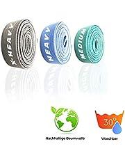ActiveVikings® Pull-Up Fitnessbanden van stof, perfect voor spieropbouw en crossfit, freeletics, calisthenics, fitnessband, optrekbanden, weerstandsbanden