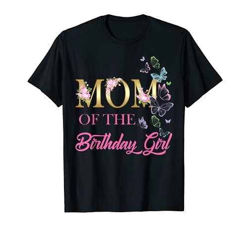 Mamá One - Primer Cumpleaños a juego con mariposa familiar floral Camiseta