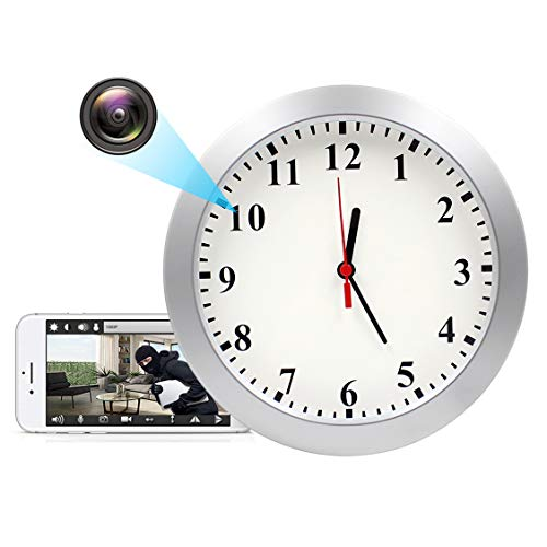 KAMRE 1080P WiFi Hidden Camera Wall Clock Spy Camera Nanny Camera for Home Security with Motion Detection, No Night Vision