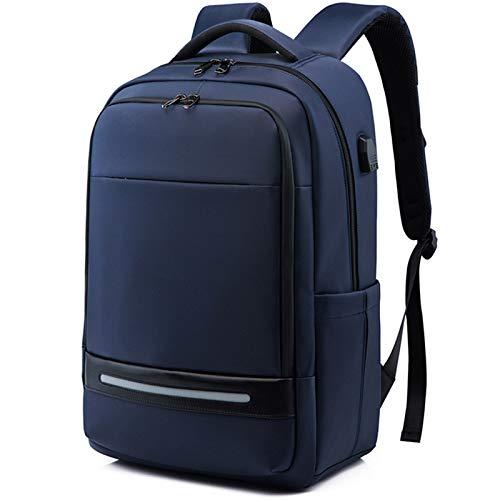 KJHGF Mochila de hombro USB para hombre, 17 pulgadas, mochila de computadora de negocios, mochila de gran capacidad, mochila de viaje multifunción impermeable B