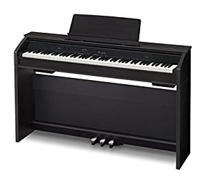 Casio PX860 BK Privia Digital Home Piano, Black with Power Supply