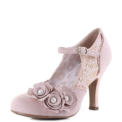 Ruby Shoo Antonia Rose Gold Special Occasion Heels UK 6