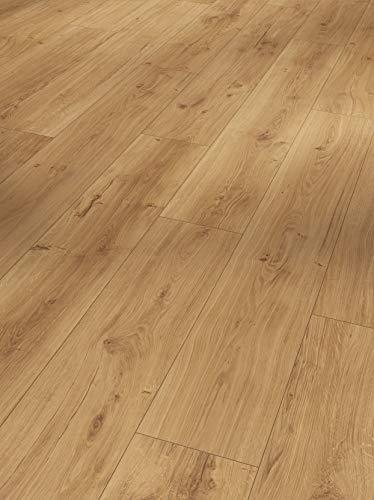 Parador Modular One - Bodenbelag Eiche Spirit Natur - Elastischer Bodenbelag in Holz-Optik, schallgedämmt, mit Klick-Verlegung - ohne Weichmacher - 1285 x 194 x 8 mm