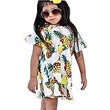 Moneycom – Vestido de verano para niñas, falda de cumpleaños, tul chic ceremonia, boda, niña, niña, floral, encaje, vestido de princesa, vestido casual de verano blanco blanco 2-3 Años