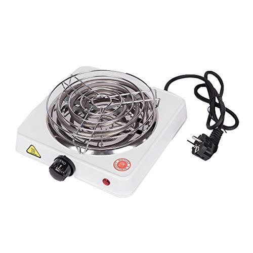 Kohleanzünder Shisha 1000W Ectxo Elektrischer Kohle Grill Heizplatte Brenner E-Heater Kohlebrenner Weiß