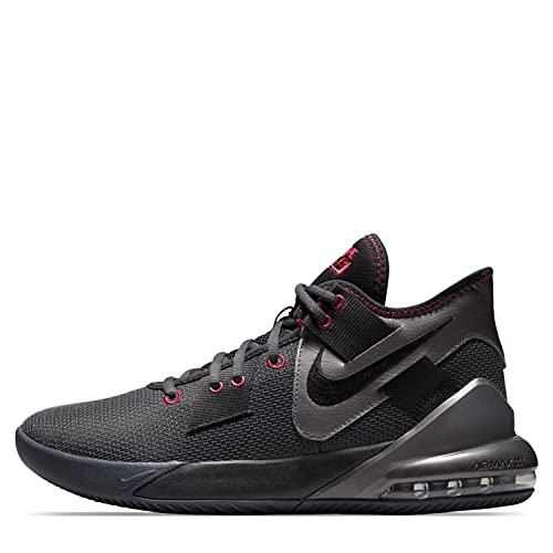 Nike Air MAX Impact 2, Zapatillas de bsquetbol Unisex Adulto, Antracita Negro Rojo, 46 EU