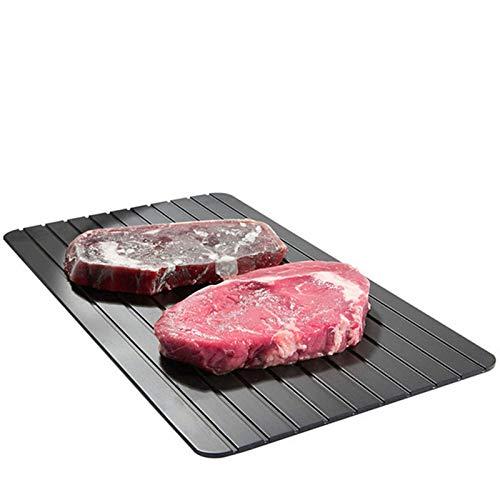 ZGBQ Auftautablett Schnellauftauteller Zusätzlich zum Obstteller Küchenlebensmittelsteak Schnellauftauwerkzeug Schnell und sicher (schwarz)