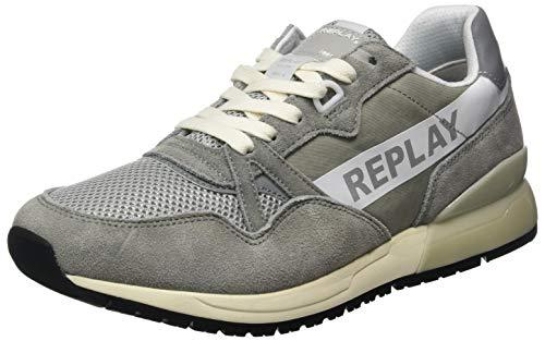 Replay Herren Shoot-Carwash Sneaker, Grau (Grey 28), 40 EU