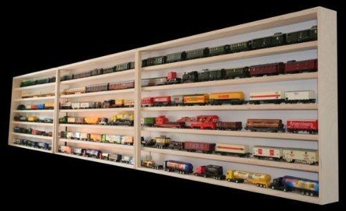 Alsino Modelleisenbahn Vitrine Austellungskasten Setzkasten mit Scheiben Hängevitrine Eisenbahn 3 Meter breit Regal mit Nuten für Spur HO H0 3E13ALRM