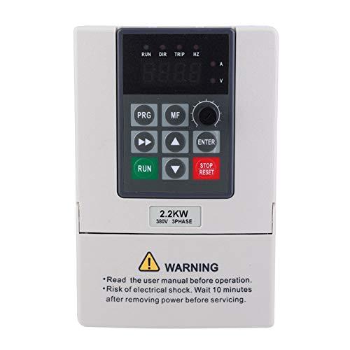 Frequenzumrichter, Frequenzumrichter mit 380 V, VFD, 2,2 kW Frequenzumrichter-Controller zur Steuerung der Motordrehzahl Dreiphasiger Eingangsausgang zur Steuerung des Spindelmotorantriebs