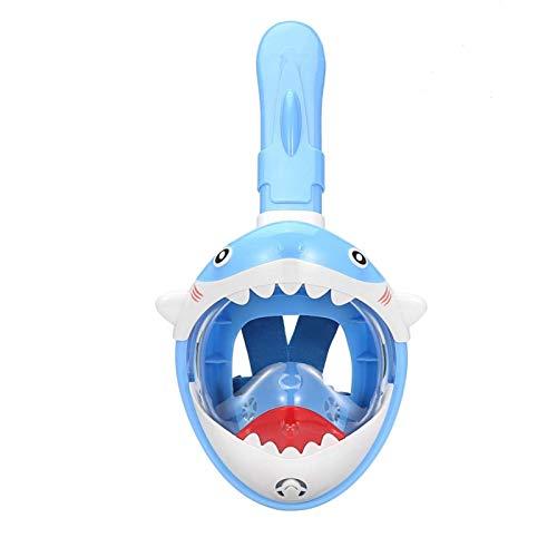 Máscara de snorkel de cara completa, vista panorámica de 180 grados plegable Cara completa Mascarilla de snorkel Anti-Fugas y anti-niebla Sistema seco de secado Máscara de buceo Máscara de snorkel
