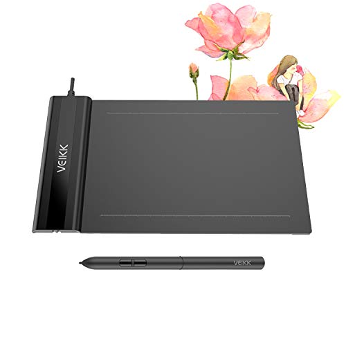 OUS Tablet VEIKK S640 V2 Graphic Drawing Tablet 6x4 inch Digital Pen Tablet with Battery-Free Stylus for Digital Drawing & OSU & Online Teaching(with 8192 Level Pressure)