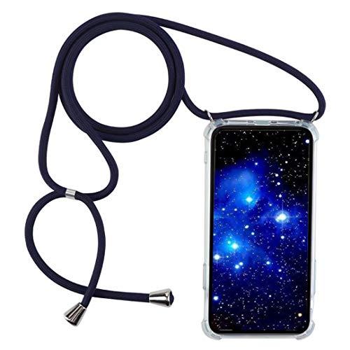1stfee Compatible con Funda para LGK11/K102018 Funda para teléfono móvil con cordón Transparente TPU Diseño de Protección Anti-Shock Cover