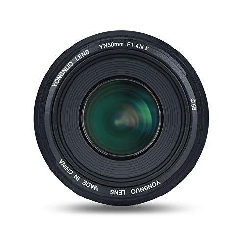YONGNUO YN50mm F1.4N E Standard Prime Lens Large Aperture Live View Focusing Auto Manual Focus for Nikon Cameras